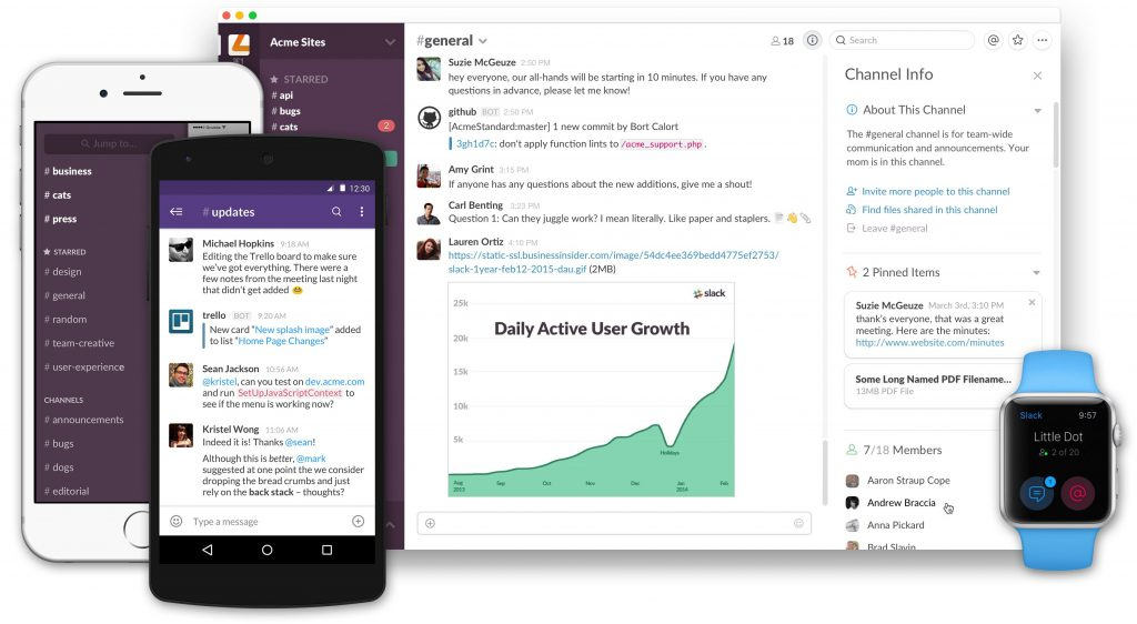 slack messaging app