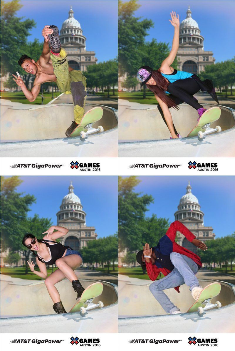 green screen photo booth samples from x games 2016 in austin